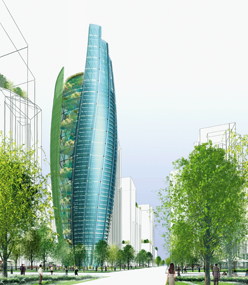 "Green Architectural views cities as new and different structures, and buildings as ""intelligent"", so that they are not only self-sufficient but also make a positive contribution to their surroundings, create biological diversity and produce cleaner air [6]."